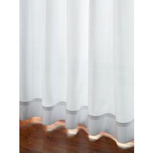 カーテン 超ロングセラー!ミラー効果のあるシンプルなレースカーテン ホワイト L 1枚/100サイズ/OUL0418|ousama-c