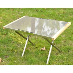 焚火テーブル バーベキューテーブル(BBQ) ステンレス製 キャンプ用品 アウトドア用品 焚き火テーブル