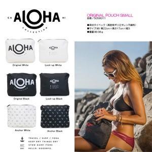 ALOHA COLLECTION アロハコレクション 防水 撥水 ポーチ オリジナル ポーチ スモール SMALL 5058011 ブランド ハワイ ブラック、ホワイト|outfit-style