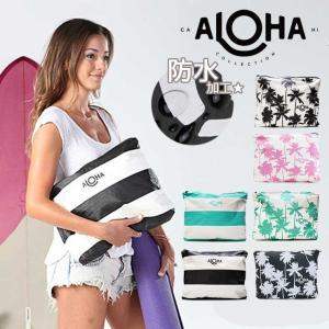 ALOHA COLLECTION アロハコレクション 防水 撥水 ポーチ ココ パーム マックス 5058016 ブランド ハワイ ブラック、ピンク、ミント|outfit-style
