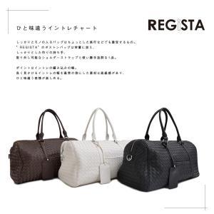 REGiSTA レジスタ イントレチャート ボストンバック シンプル 通勤|outfit-style