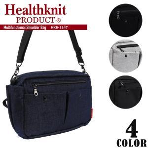 多機能ショルダーバッグ メンズ Healthknit ヘルスニット レディース サブバッグ バッグインバッグ クラッチバッグ ポーチ outfit-style