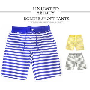 UNLIMITED ABILITY(アンリミテッドアビリティ) ハーフパンツ ショートパンツ メンズ ボーダー カラー 人気|outfit-style