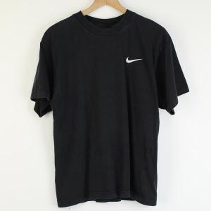 【古着】 NIKE ナイキ ワンポイントTシャツ 刺繍・ワッペン ブラック系 メンズM 【中古】 n000009|outfit-vintage