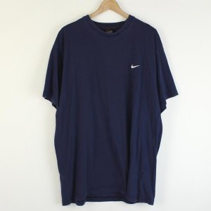 【古着】 NIKE ナイキ ワンポイントTシャツ 刺繍・ワッペン ネイビー系 メンズXL 【中古】 n000020|outfit-vintage