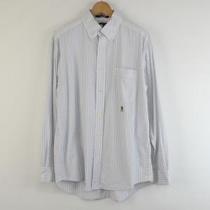 【古着】 TOMMY HILFIGER トミー・ヒルフィガー チェックシャツ 90年代 長袖 ホワイト系 メンズL 【中古】 n000094|outfit-vintage
