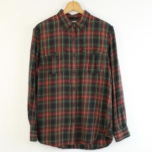 【古着】 RALPH LAUREN ラルフローレン チェックシャツ 90年代 長袖 レッド系 メンズM 【中古】 n000097|outfit-vintage