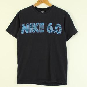 【古着】 NIKE ナイキ ロゴプリントTシャツ ブラック系 メンズS 【中古】 n000111|outfit-vintage