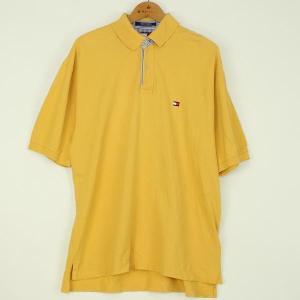 【古着】 トミー・ヒルフィガー無地ポロシャツ 90年代 ワンポイント刺繍 イエロー系 メンズXL n000117 outfit-vintage