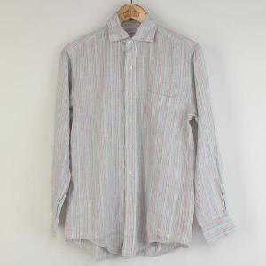 【古着】 Brooks Brothers ブルックスブラザーズ ストライプシャツ 長袖 マルチカラー メンズS 【中古】 n000140|outfit-vintage