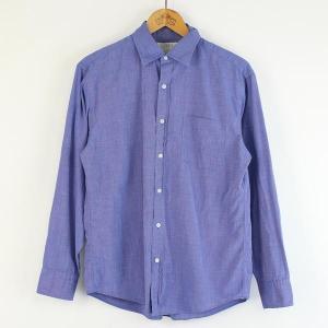【古着】 J.CREW ジェイクルー 無地シャツ 長袖 ブルー系 メンズM 【中古】 n000144|outfit-vintage
