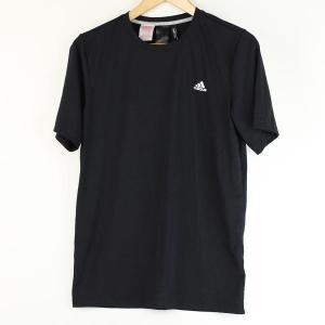 【古着】 adidas アディダス ワンポイントTシャツ ブラック系 メンズM 【中古】 n000170|outfit-vintage