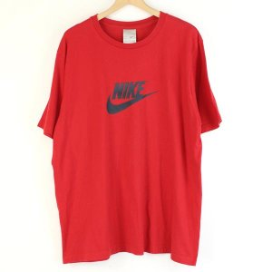 【古着】 NIKE ナイキ ロゴプリントTシャツ レッド系 メンズXL 【中古】 n000209|outfit-vintage