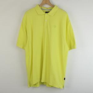 【古着】 IZOD アイゾット 無地ポロシャツ ワンポイント刺繍 イエロー系 メンズXL 【中古】 n001066 outfit-vintage