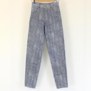 【古着】 レディースデニムパンツ ケミカルウォッシュ 80年代 テーパード ブルー系 レディースW26 【中古】 n001565|outfit-vintage