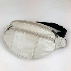 【古着】 ウェストバッグ レザー 本革 ホワイト系 フリーサイズ 【中古】 n001749 outfit-vintage