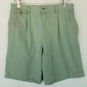 【古着】 NAUTICA ノーティカ タックショートパンツ グリーン系 メンズW34 【中古】 n002167|outfit-vintage