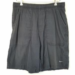 【古着】 NIKE ナイキ スポーツショートパンツ ウエストゴム ブラック系 メンズL 【中古】 n002168|outfit-vintage
