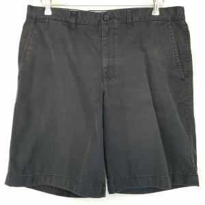 【古着】 TOMMY HILFIGER トミー・ヒルフィガー チノショートパンツ ブラック系 メンズW36 【中古】 n002172|outfit-vintage