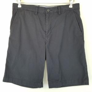 【古着】 TOMMY HILFIGER トミー・ヒルフィガー チノショートパンツ ブラック系 メンズW32 【中古】 n002174|outfit-vintage