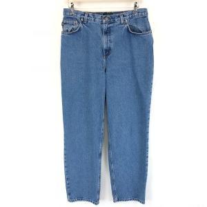 【古着】 RALPH LAUREN ラルフローレン テーパードデニムパンツ 90年代 ブルー系 メンズW33 【中古】 n002395|outfit-vintage