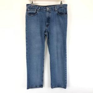 【古着】 RALPH LAUREN ラルフローレン テーパードデニムパンツ 90年代 ブルー系 メンズW34 【中古】 n002396|outfit-vintage