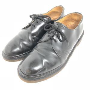 【古着】 Dr.Martens ドクターマーチン プレーントゥ 3ホール ブラック系 メンズ26.0cm 【中古】 n003062|outfit-vintage