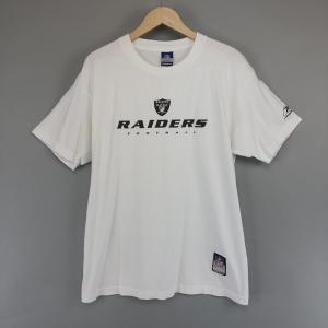 【古着】 Reebok リーボック プリントTシャツ NFL RAIDERS レイダース ホワイト系 メンズM 【中古】 n003341 outfit-vintage