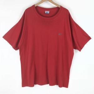 【古着】 Reebok リーボック ワンポイントTシャツ 90年代 レッド系 メンズXL以上 【中古】 n003540 outfit-vintage