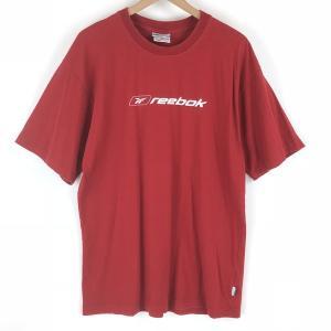 【古着】 Reebok リーボック ロゴプリントTシャツ 90年代 レッド系 メンズXL 【中古】 n003541 outfit-vintage