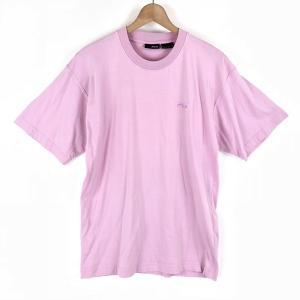【古着】 FILA フィラ ワンポイントTシャツ ピンク系 メンズM 【中古】 n003545|outfit-vintage