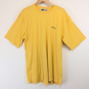 【古着】 FILA フィラ ワンポイントTシャツ イエロー系 メンズXL以上 【中古】 n003634|outfit-vintage