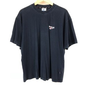 【古着】 Reebok リーボック ワンポイントTシャツ ネイビー系 メンズM 【中古】 n003647 outfit-vintage