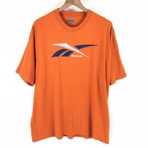【古着】 Reebok リーボック ロゴプリントTシャツ オレンジ系 メンズL 【中古】 n003768 outfit-vintage