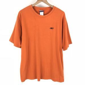 【古着】 Reebok リーボック ワンポイントTシャツ オレンジ系 メンズL 【中古】 n003769 outfit-vintage