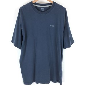 【古着】 Reebok リーボック ワンポイントTシャツ ネイビー系 メンズXL 【中古】 n003771 outfit-vintage