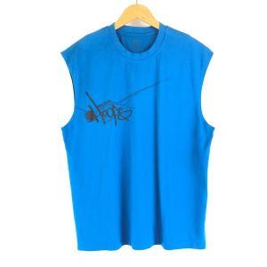 【古着】 Reebok リーボック プリントTシャツ スリーブレス ブルー系 メンズXL 【中古】 n003812 outfit-vintage