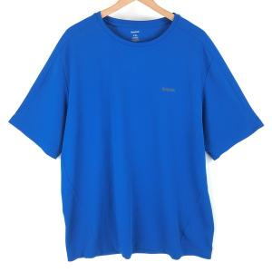 【古着】 Reebok リーボック ワンポイントTシャツ PLAY-DRY ブルー系 メンズXL以上 【中古】 n003899 outfit-vintage