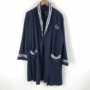 【古着】 RALPH LAUREN ラルフローレン ガウン カット素材 ネイビー系 レディースL 【中古】 n007190 outfit-vintage