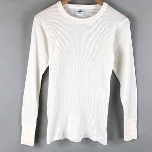 【古着】 J.E.MORGAN J.E モーガン made in USA サーマル 無地 長袖 ホワイト系 メンズS 【中古】 n007196|outfit-vintage