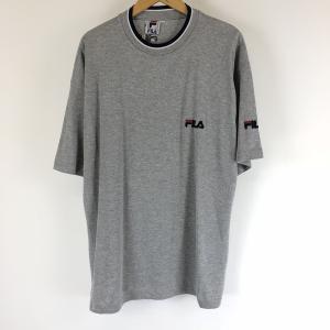 【古着】 FILA フィラ ワンポイントTシャツ 刺繍 グレー系 メンズXL 【中古】 n007555|outfit-vintage