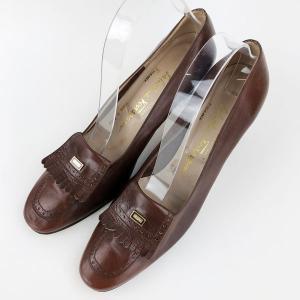 【古着】 Ferragamo フェラガモ ハイヒール made in ITALY ブラウン系 レディース25.0cm 【中古】 n010334 outfit-vintage