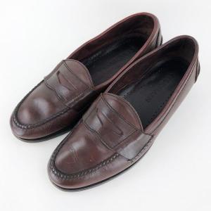【古着】 COLE HAAN コールハーン コインローファー made in BRAZIL  ブラウン系 メンズ27.0cm 【中古】 n010496|outfit-vintage