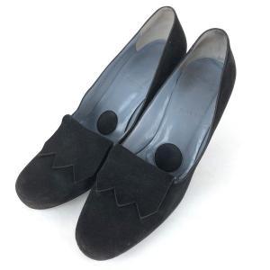 【古着】 BALLY バリー ハイヒール スウェード素材 無地 ブラック系 レディース23.5cm 【中古】 n012388 outfit-vintage