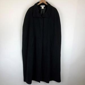 BRIEFING ウールコート マント/ポンチョ スリーブレス 無地 マキシ丈 ブラック系 レディースXL以上 n012740 outfit-vintage