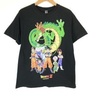 ROLY ローリー キャラクターTシャツ アニメ 海外版 ドラゴンボールZ デカプリント ブラック系 メンズL n013058|outfit-vintage