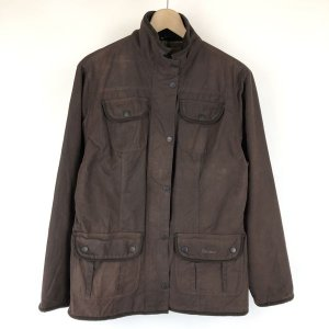 Barbour バブアー オイルドジャケット made in ENGLAND L1094 LADIE'S UTILITY JACKET ブラウン系 レディースXL n015049|outfit-vintage
