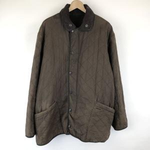 Barbour バブアー オイルドキルトジャケット D210 DURA COTTON POLARQUILT JACKET 裏フリース ブラウン メンズXL n015050|outfit-vintage