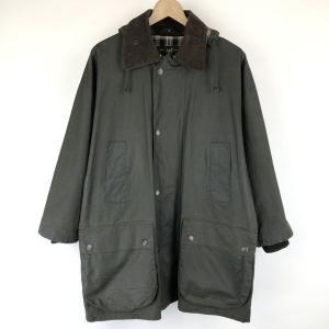 【古着】 Mc Orvis オービス オイルドジャケット made in EANGLAND コーデュロイ襟 オリーブ系 メンズS 【中古】 n015056|outfit-vintage