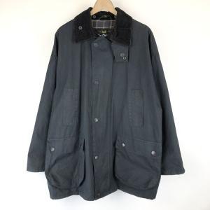【古着】 Mc Orvis オービス オイルドジャケット made in EANGLAND コーデュロイ襟 ブラック系 メンズXL 【中古】 n015057|outfit-vintage